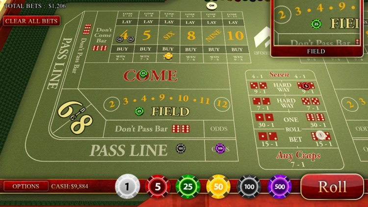 Craps game Canada: casinos to play this dice game for free