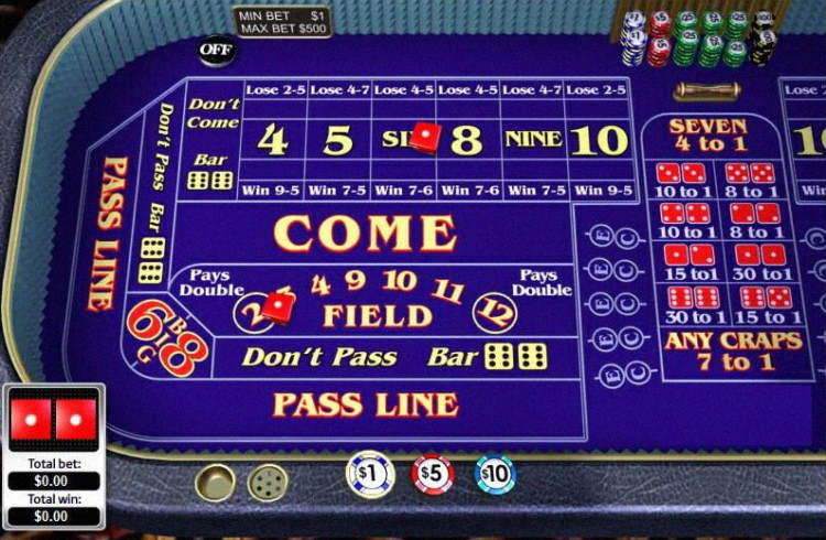 Craps online Canada; practice for free – play for real money and win
